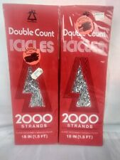 Antique Vintage Metal Foil Icicles Double Glo 1960s Lead Tinsel Ornaments Old!
