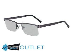 Brillenfassung Halbrand Halbrandbrille aus Metall in silber