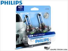 NEW 2x PHILIPS H11 CRYSTAL VISION ULTRA HEADLIGHTS 4000K 12362CVB2 12V 55W PAIR