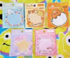 Sanrio Sticky Note Pad Kawaii Stationary Japan Cute 30 Sheets Various Designs