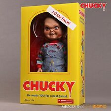 "Child's Play 15"" Talking Chucky 'Evil Face' action figure w/sound (Mezco Toys)"