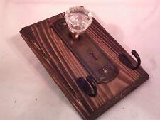 """Antique Door Knob Key Rack 9 1/2"""" x 6 1/2"""" #7"""
