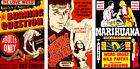 Vintage Anti-Marijuana Reefer Lot (3) 11 x 17 Reproduction Movie Posters