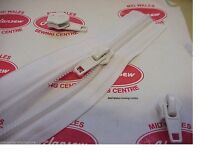 10 FOOT HEAVY DUTY WHITE TENT ZIP with fitted autolock SLIDER