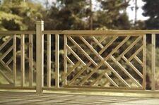 Wooden Modern Softwood Decking Panel | CRISS CROSS Hatch | Green Treated
