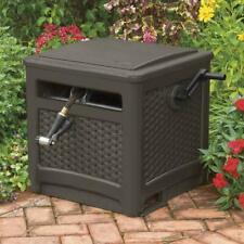 225 ft Resin Wicker Hideaway Water Hose Reel Outdoor Garden Decorative Storage