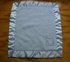 Giggle Baby Sheep Lamb Lovey Security Blanket Blue Dots Satin Trim