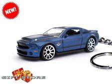 KEY CHAIN BLUE BLACK FORD MUSTANG GT 500 GT500 SHELBY SS SUPER SNAKE NEW CUSTOM