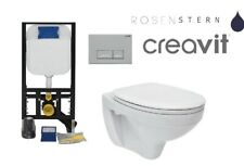 WC-Vorwandelement Creavit Wand WC SET WC-Sitz Soft Close Komplettset Spülkasten
