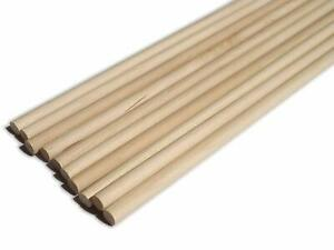 30cm Wooden Craft Sticks - Hardwood Dowels Poles Rods Craft 5mm dia 10 Pack