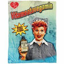 I Love Lucy Ball Vitameatavegamin Medicine Plush Super Soft Throw Blanket NEW