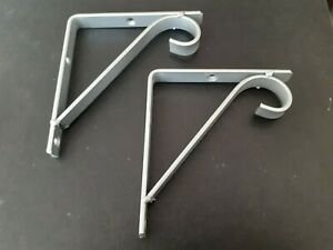 "2x Metal Shelf Support Brackets in SILVER New / Handmade 4"" (10cm) Width. Ornate"