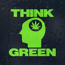 Funny Marijuana Think Green Smoking Weed Car Or Laptop Decal Vinyl Sticker