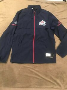 New NHL Colorado Avalanche  Adidas Team Issued Full Zip Jacket Retail $170.00