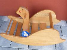 vintage ancien JOUET en bois WISA gloria CHEVAL à BASCULE toy swiss WOOD holz