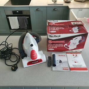 Dirt Devil DHC004 1000 Watt Mains Powered Handheld Vacuum Cleaner box MICROBAN