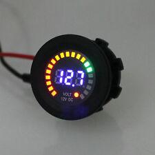 """Car Truck 1.5""""/36.5mm Digital LED Volt Voltage 5-15v Gauge Meter Black Universal"""
