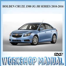 Chevrolet Cruze Holden Cruze J300 JG JH Series 2010-2016 Workshop Manual DVD