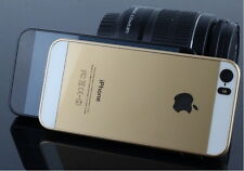 iPhone 5, 5S Case Cover Protector Matte Hard Back Gold with White - New (D01)