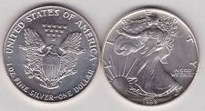 USA 1 OUNCE 1992 SILVER EAGLE IN NEAR MINT CONDITION