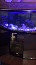 Oceananic Bowfront 75 gallon aquarium fish tank With Top Lid And Bottom Refugim