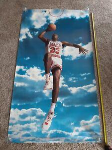 "1992 Nike Sky Jordan OVERSIZED SUBWAY Poster 72"" x 40"" Vintage Chicago Bulls"