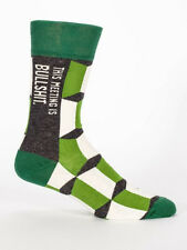Men's Crew Socks, This Meeting is Bullshit, Blue Q Novelty Father's Day Gift