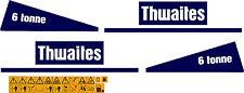Thwaites 6 TONNELLATA DUMPER DECALCOMANIE e la Sicurezza Avvertenza Adesivi