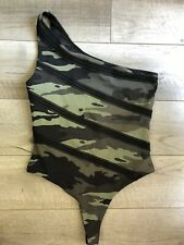 Victorias Secret Sport Cameo One Shoulder String Thong 1 Piece One Swimsuit Smal