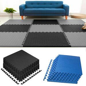 Large EVA Foam Mat Gym Floor Mat Interlocking Exercise Yoga Kids Play Soft Tile