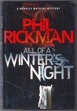 All of a Winter's Night • Phil Rickman 2017 • HC w/DJ •  Merrily Watkins Mystery