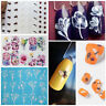 Nail Art Transfer Sticker Bee Blooming Flower Decal DIY Manicure Decoration Tips