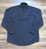 Duck Head Mens Large Blue Shirt Button Front Wrinkle Free Long Sleeve