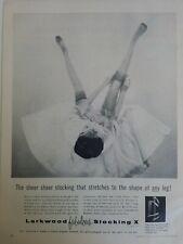 1954 women's Larkwood fabulous hosiery stocking X legs vintage fashion ad