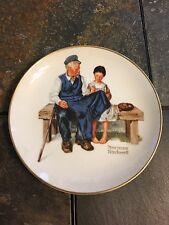 Vintage Norman Rockwell Lighthouse Keepers Daughter Ceramic Gold Trimmed plate