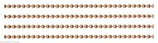 100 Feet 2.4mm Solid Copper Ball Chain #3 + Plus 50 Connectors ~  Bulk Footage