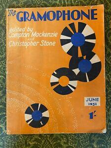 THE GRAMOPHONE June1932 Music Magazine from England JAZZ BANDS, radio, great!