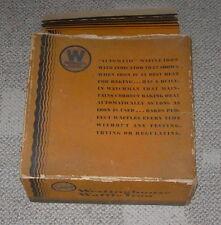 WESTINGHOUSE  WAFFLE IRON  ART DECO STYLE  C. 1930'S  WITH ORIGINAL BOX