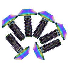 10Pcs M6X15mm MTB Titanium Ti Alloy Allen Umbrella Head Colorful Ti M6 Bolts Gr5