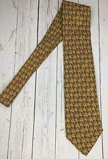 Brioni Seta Silk Checked Floral Geometric Mens Tie Necktie Handmade In Italy