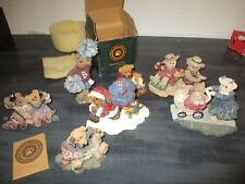 Boyds Bear and Cottage Collectibles lot of *7* figurines! Great Condition!