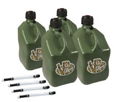 4 Pack VP Racing Camo 5 Gallon Square Fuel Jug/4 Deluxe Hoses/Water/Gas Can