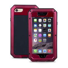 Apple Iphone 6 6s 4.7 cubierta de metal pesado deber Estuche Impermeable a prueba de choques Rojo
