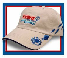 Trident Crab Embroidered Crabbing & Fishing Hat Cap Seen on Deadliest Catch NEW