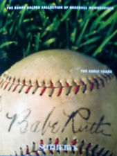BARRY HALPER COLLECTION OF BASEBALL MEMORABILIA / EARLY YEARS - SOTHERBY'S - '99