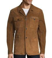 John Varvatos Star USA Men's Corduroy Work Jacket Garment Washed Cinnamon