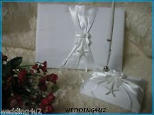 Wedding Ceremony Party STARFISH Beach Ocean Guest Book & Pen Set 3 psc