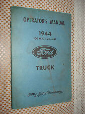 1944 FORD TRUCK OWNERS MANUAL V8 49T ORIGINAL RARE GLOVEBOX BOOK WARTIME WW2 ERA