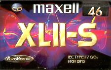 CASSETTE AUDIO MAXELL XLII-S 46 (IEC TYPE II*CrOs HIGH BIAS) CHROME SUPER SOUND