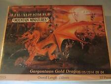 Le Canardeur Mountain d&d Gargantuan Gold Dragon aventure personnage neuf dans sa boîte New nr:1015